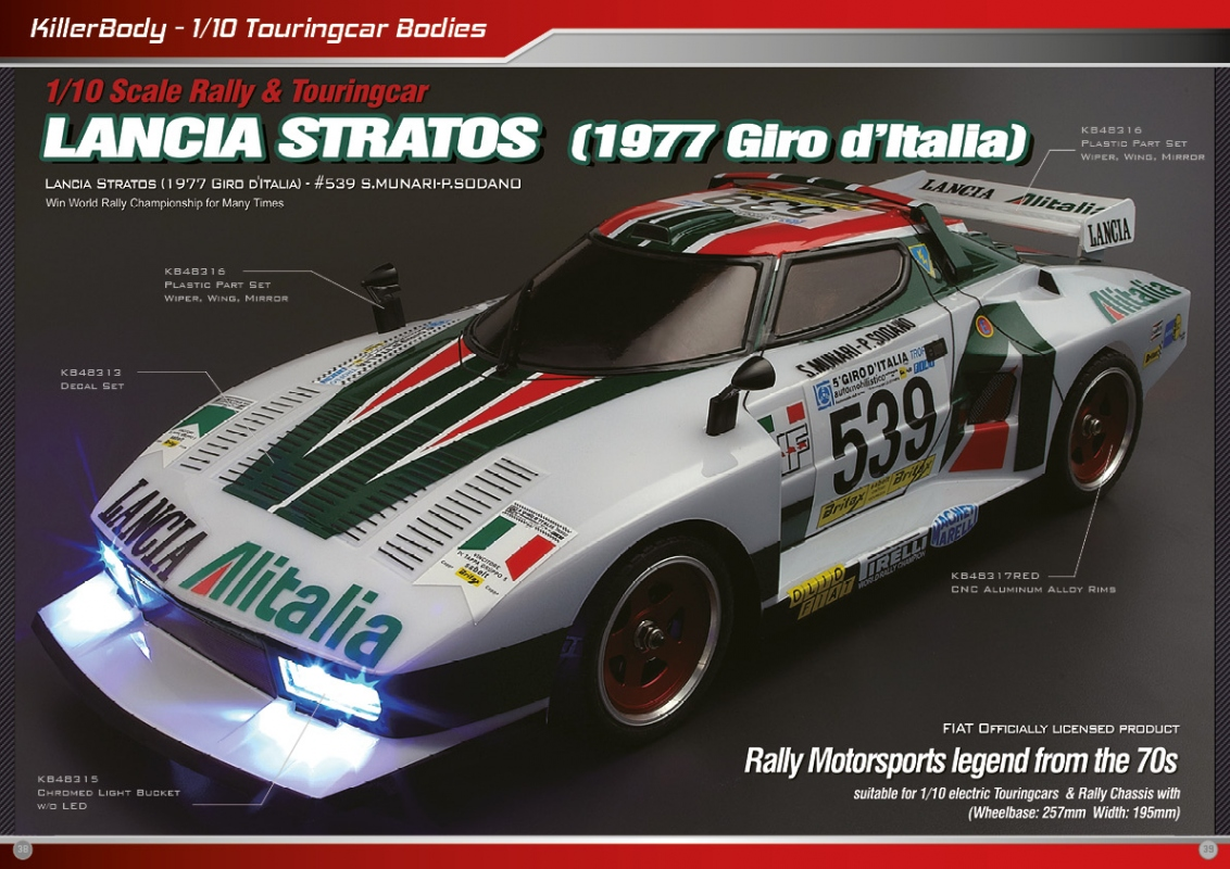 Racing Rc Car >> Killerbody Lancia Stratos - RC Cars, RC parts and RC accessories