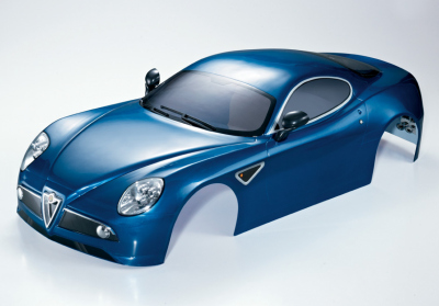 Alfa Romeo 8C (1/7), metallic blue body, RTU all-in