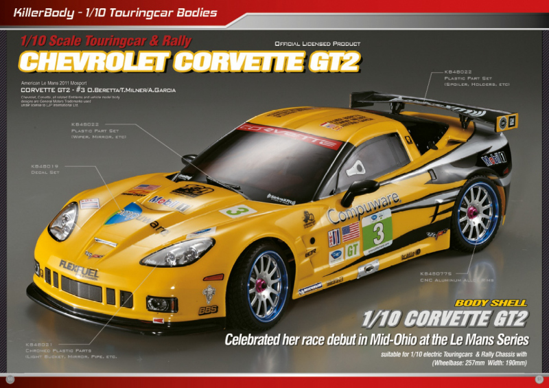 Chevrolet Corvette GT2 Bodies
