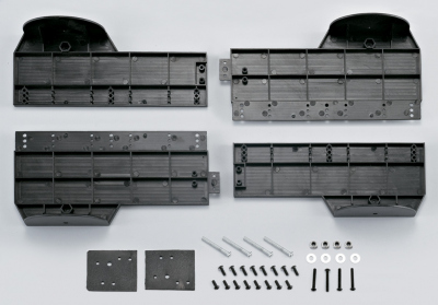 Plastic display chassis set