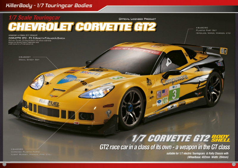 1/7 Chevrolet Corvette GT2 Bodies