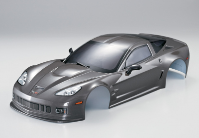 Corvette GT2 (1/10), silver-grey body, RTU all-in