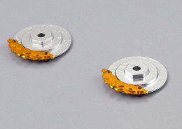"Brake discs with Caliper ""silver / gold"""