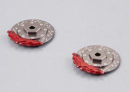"Brake discs with Caliper ""grey / red"""