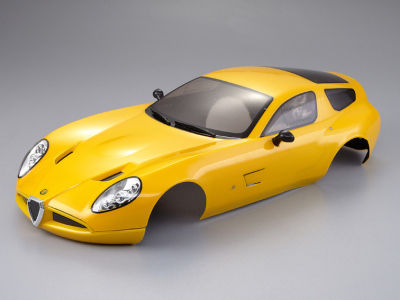 Alfa Romeo TZ3 corsa (1/10), yellow body, RTU all-in