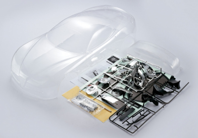 Alfa Romeo 8C (1/7), clear body, Kit all-in