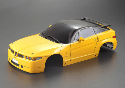 Alfa Romeo SZ (1/10), yellow body, RTU all-in