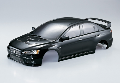 Mitsubishi Lancer Evo X (1/10), verniciata nero, RTU all-in