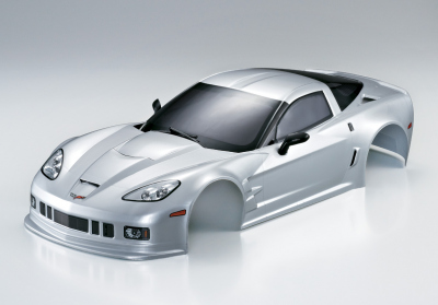 Corvette GT2 (1/10), silver body, RTU all-in