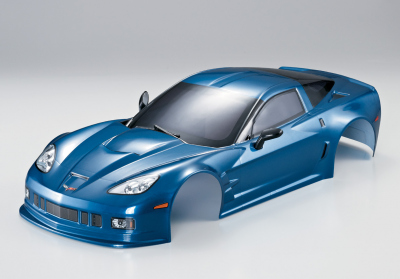 Corvette GT2 (1/10), verniciata blu metallizzato, RTU all-in
