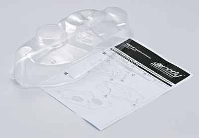 Buggy chassis protection body (1/8), clear, Kit all-in
