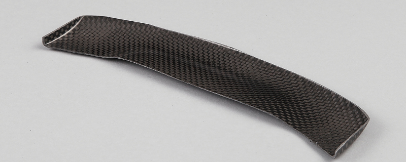 Carbon fiber wing made ​of black carbon (without mounting)