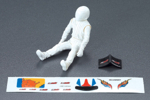 SCT Monster Driver Doll, white + Decal Set
