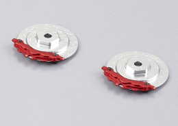 "Brake discs with Caliper ""silver / red"""