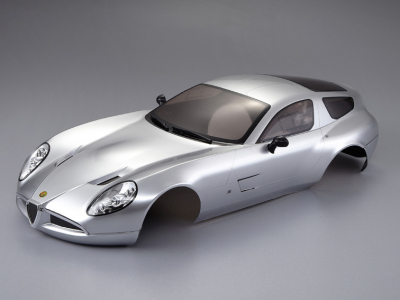 Alfa Romeo TZ3 corsa (1/10), silver body, RTU all-in