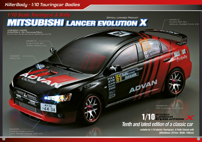 Mitsubishi Lancer Evolution X Bodies