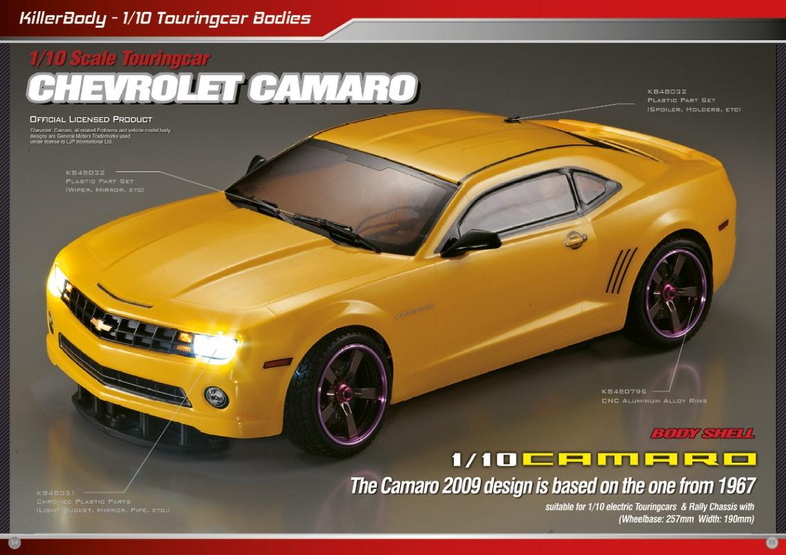 Camaro chevy camaro accessories : Killerbody Chevrolet Camaro - RC Cars, RC parts and RC accessories