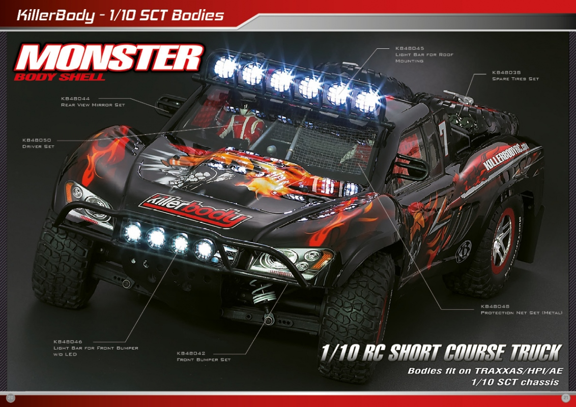 Killerbody Sct Monster Bodies Rc Cars Rc Parts And Rc Accessories