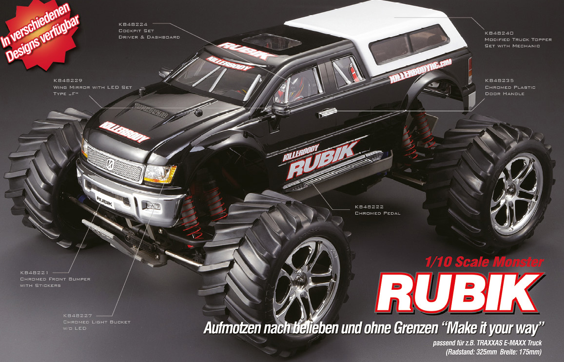 Killerbody Rubik Monster Truck Rc Cars Rc Parts And Rc Accessories