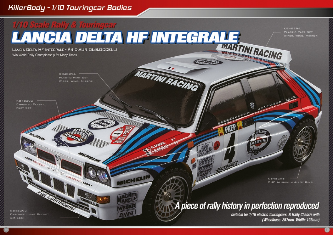 killerbody lancia delta hf integrale rc cars rc parts and rc accessories. Black Bedroom Furniture Sets. Home Design Ideas