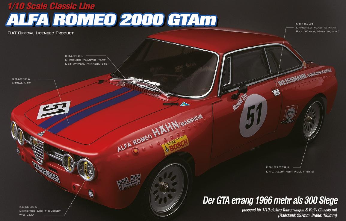Killerbody Alfa Romeo 2000 Gtam Ferngesteuerte Autos Hubschrauber Series 1 2000gtam Ef1